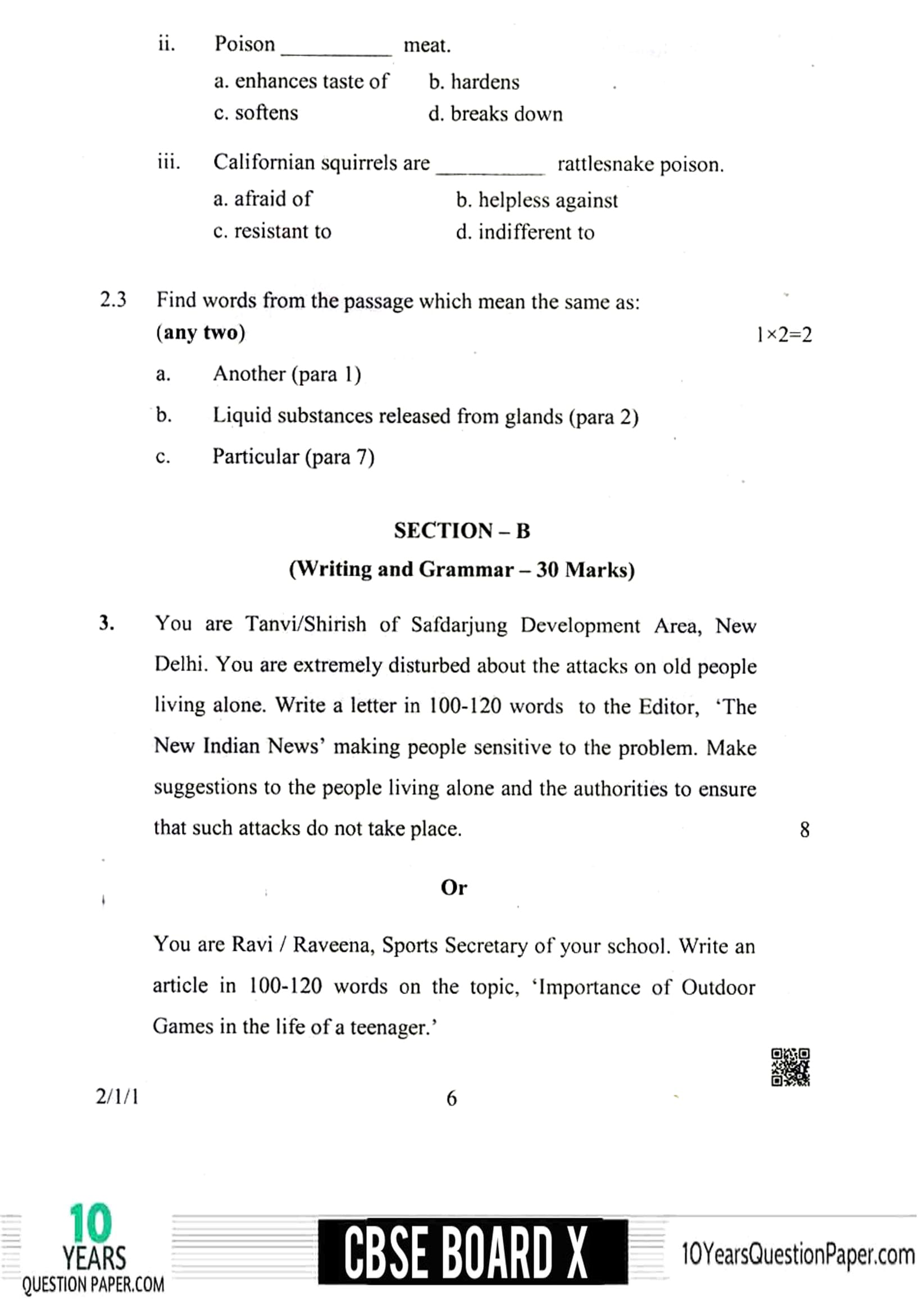 CBSE Class 10 English (Language And Literature) 2019 Question Paper