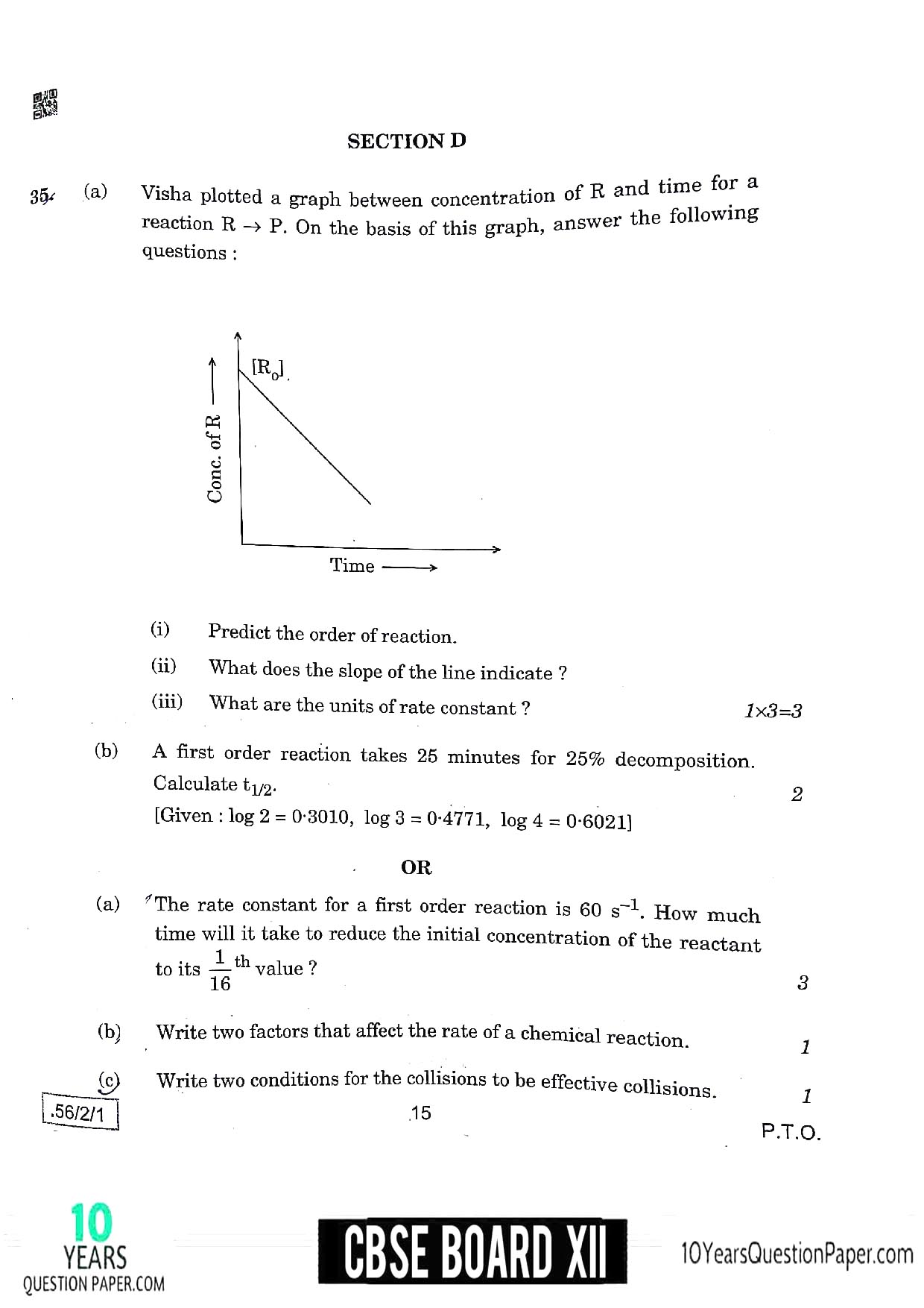 CBSE Class 12 Chemistry 2020 Question Paper 08