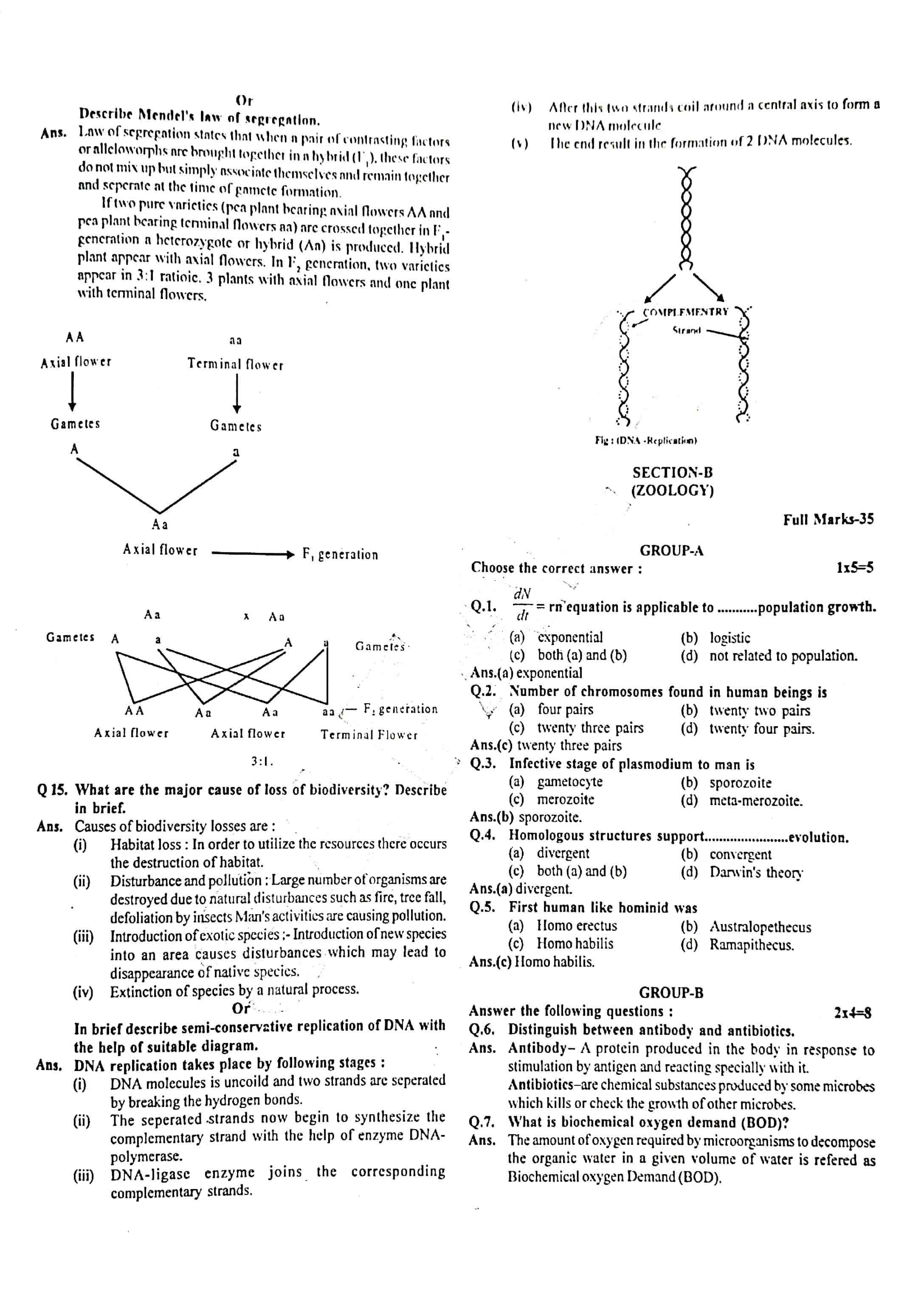 JAC Class 12 biology 2013 Question Paper 02