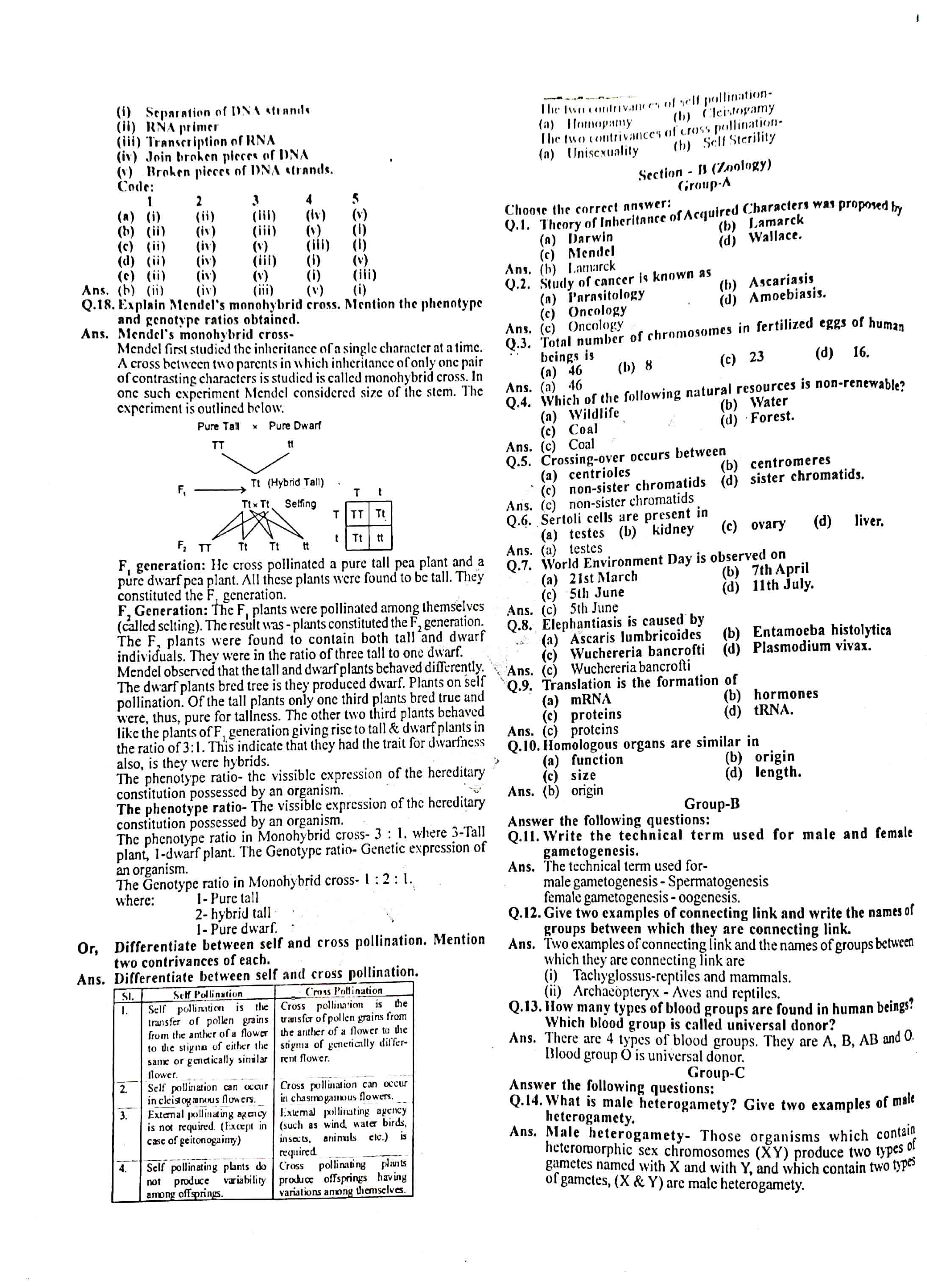 JAC Class 12 biology 2014 Question Paper 02