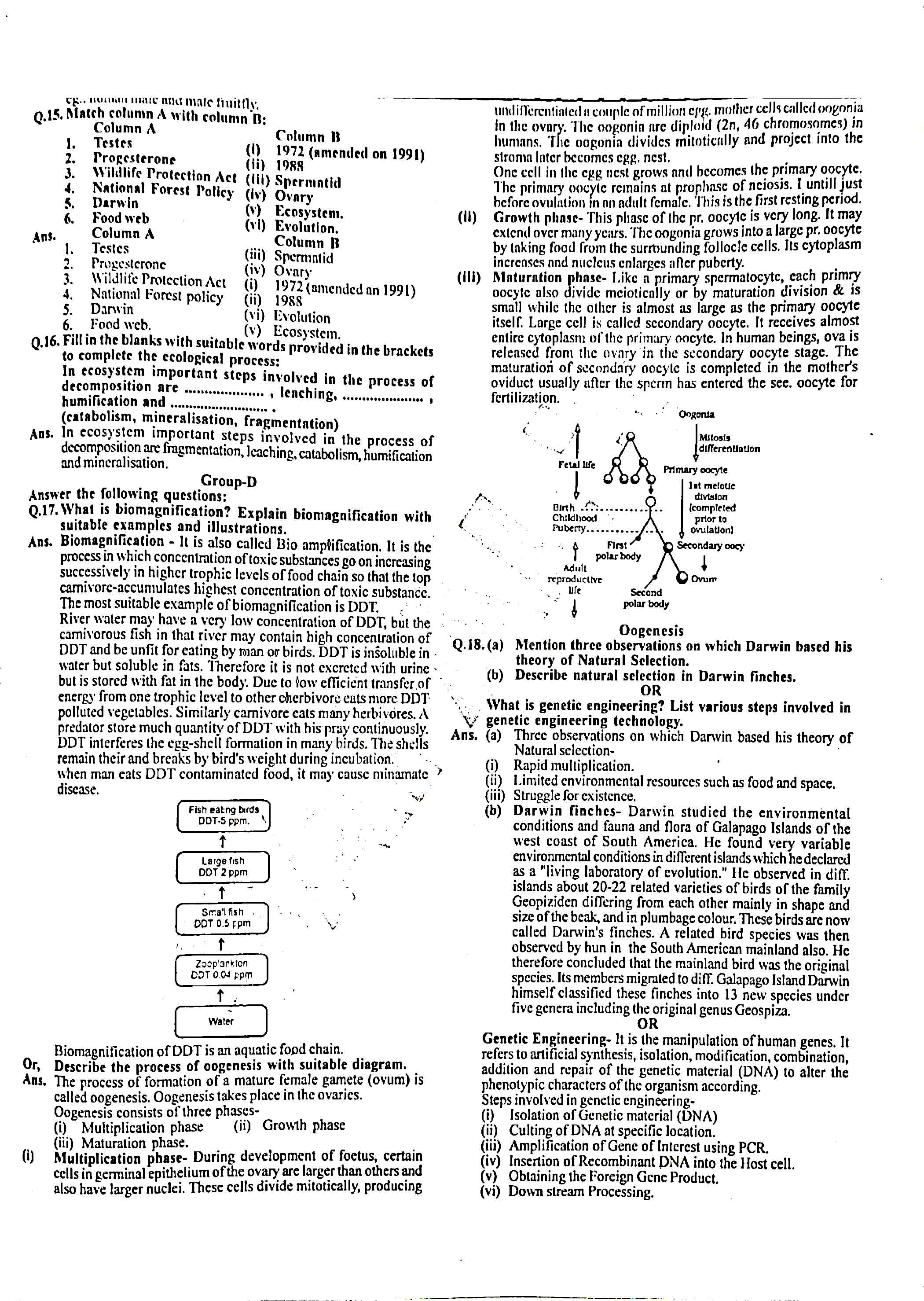 JAC Class 12 biology 2014 Question Paper 03