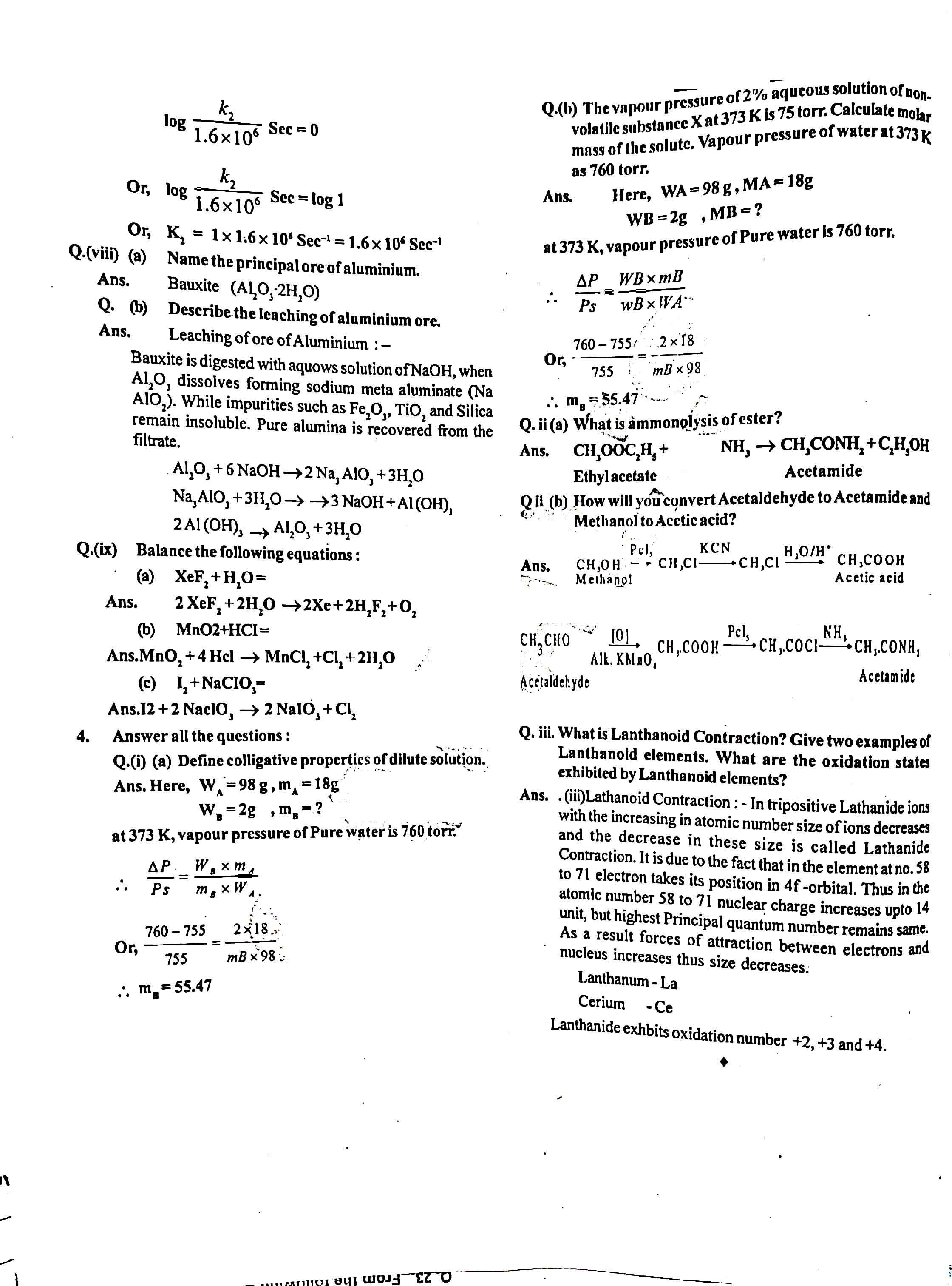 JAC Class 12 chemistry 2012 Question Paper 04