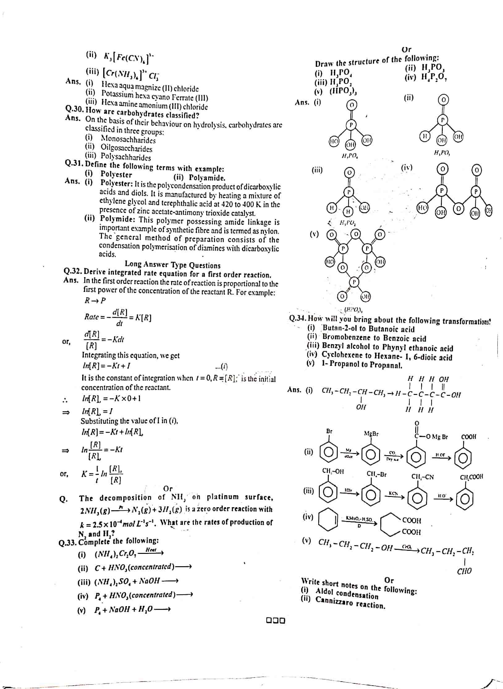 JAC Class 12 chemistry 2015 Question Paper 03