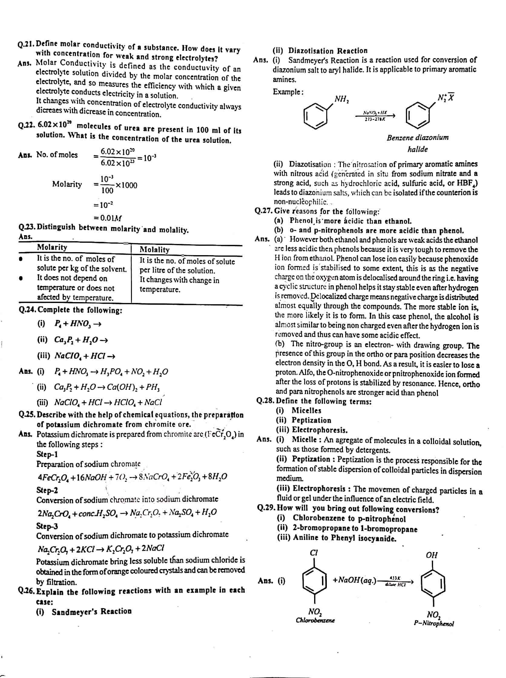 JAC Class 12 chemistry 2017 Question Paper 02