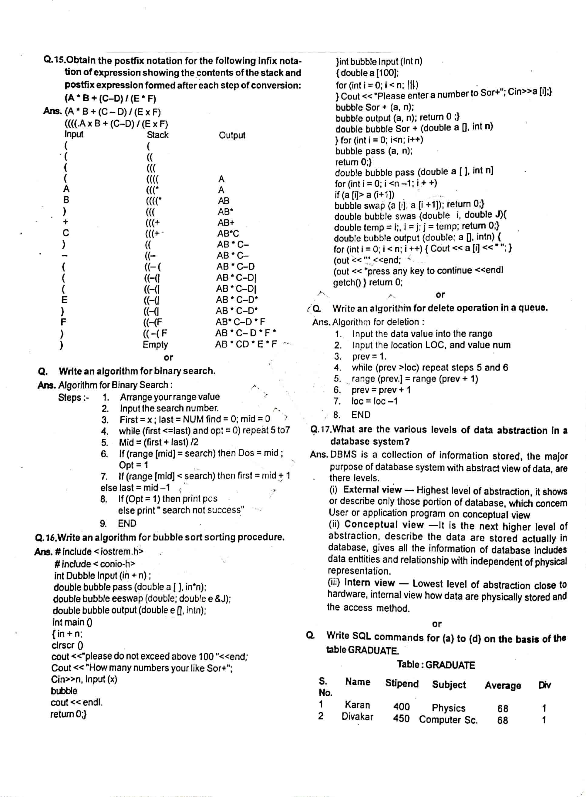 JAC Class 12 Computer Science 2013 Question Paper 04