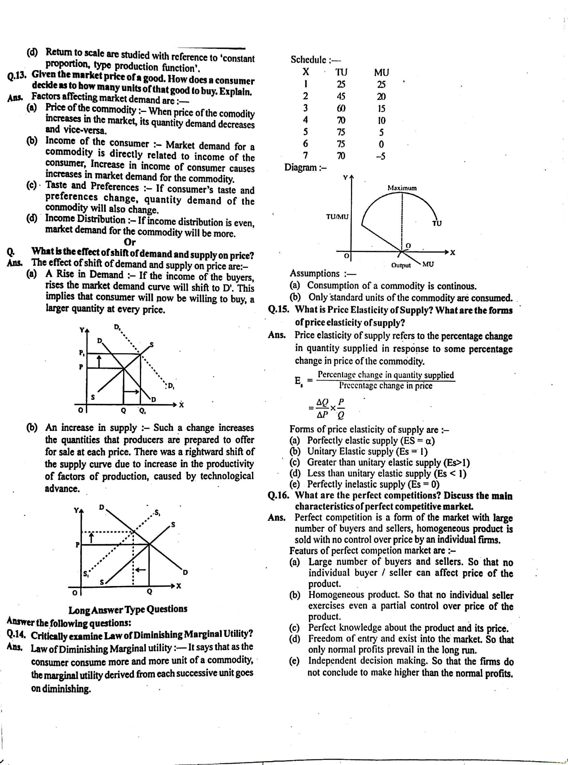 JAC Class 12 economics 2015 Question Paper 02