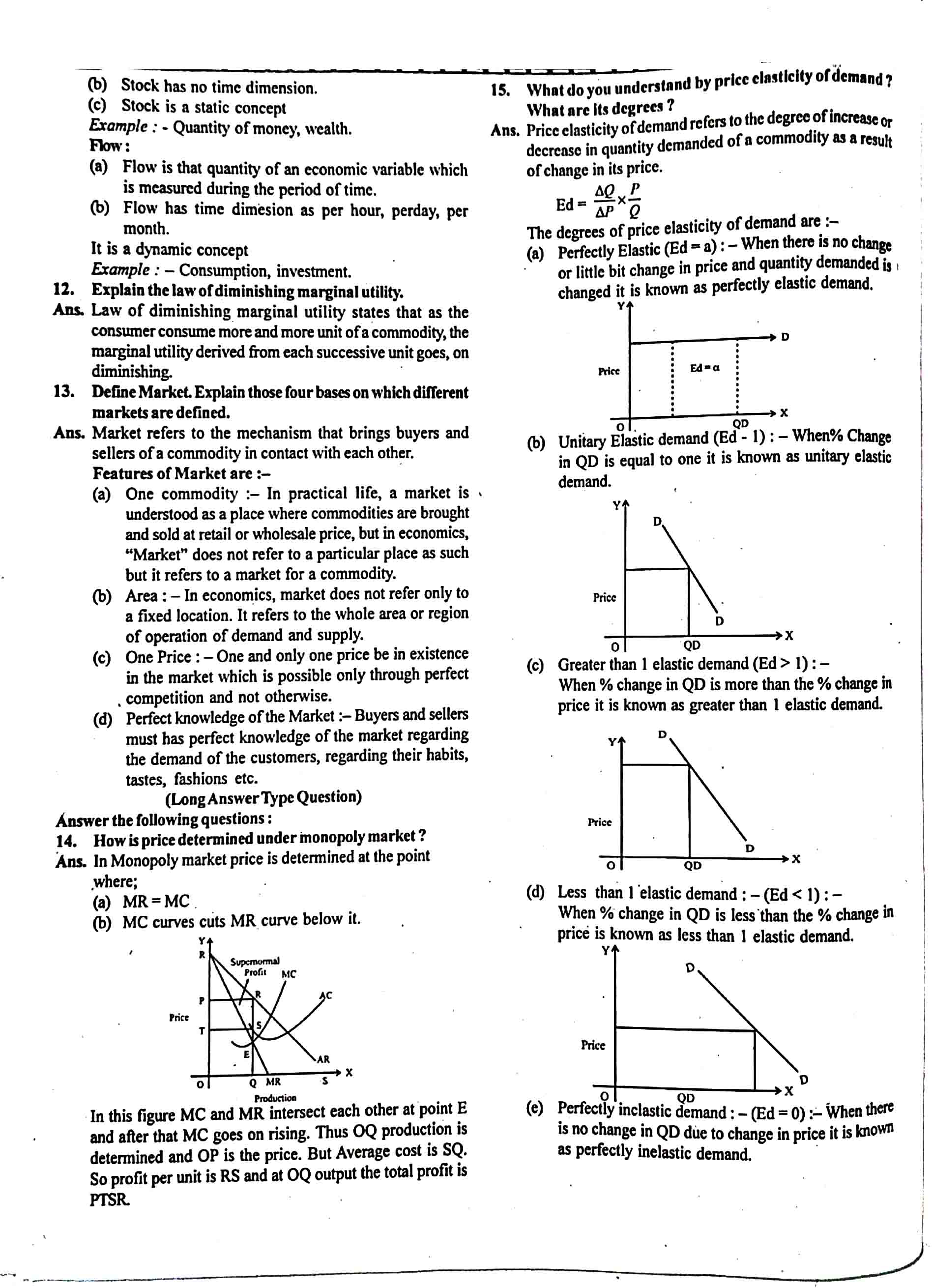 JAC Class 12 economics 2018 Question Paper 02