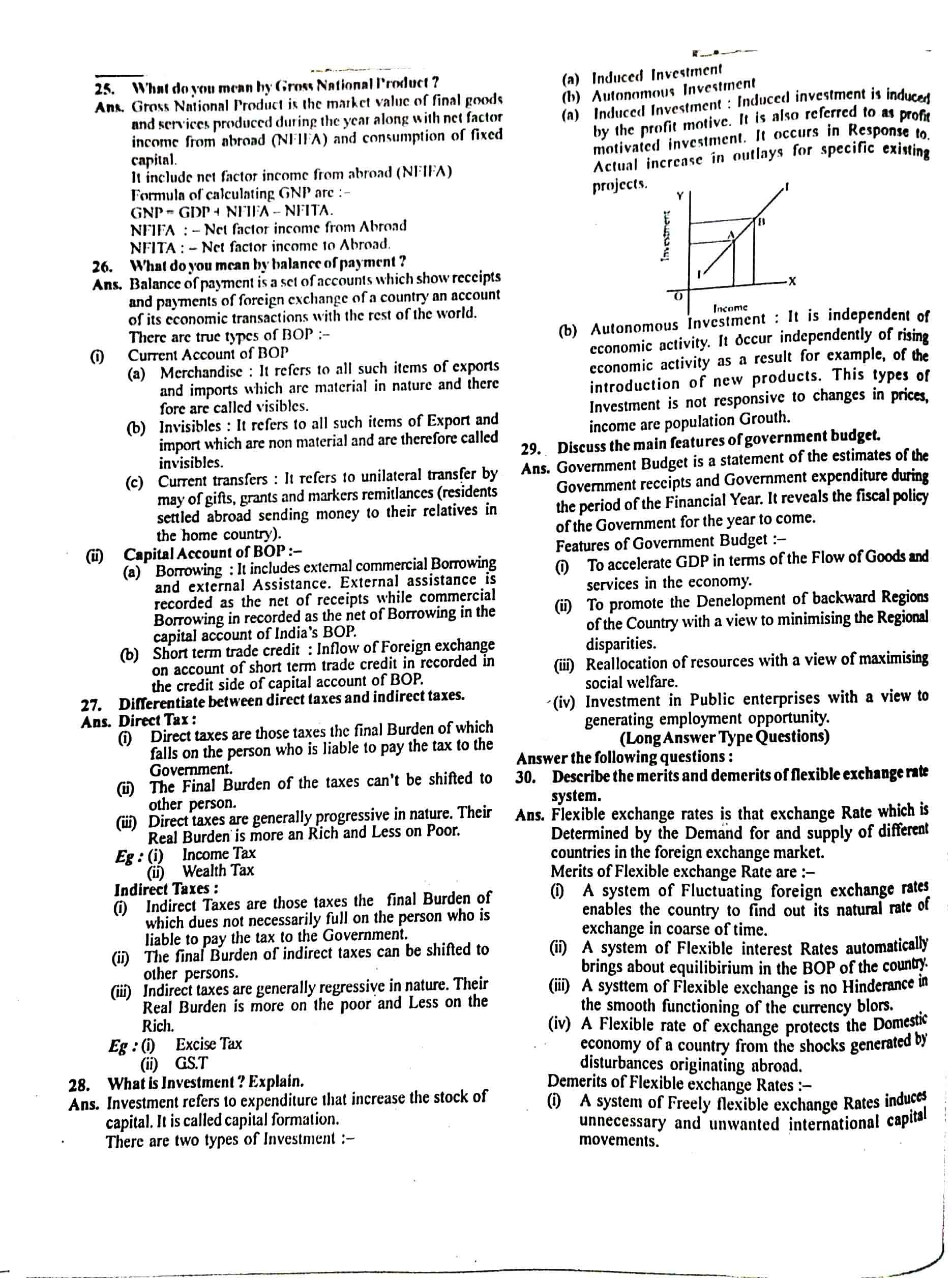 JAC Class 12 economics 2018 Question Paper 04
