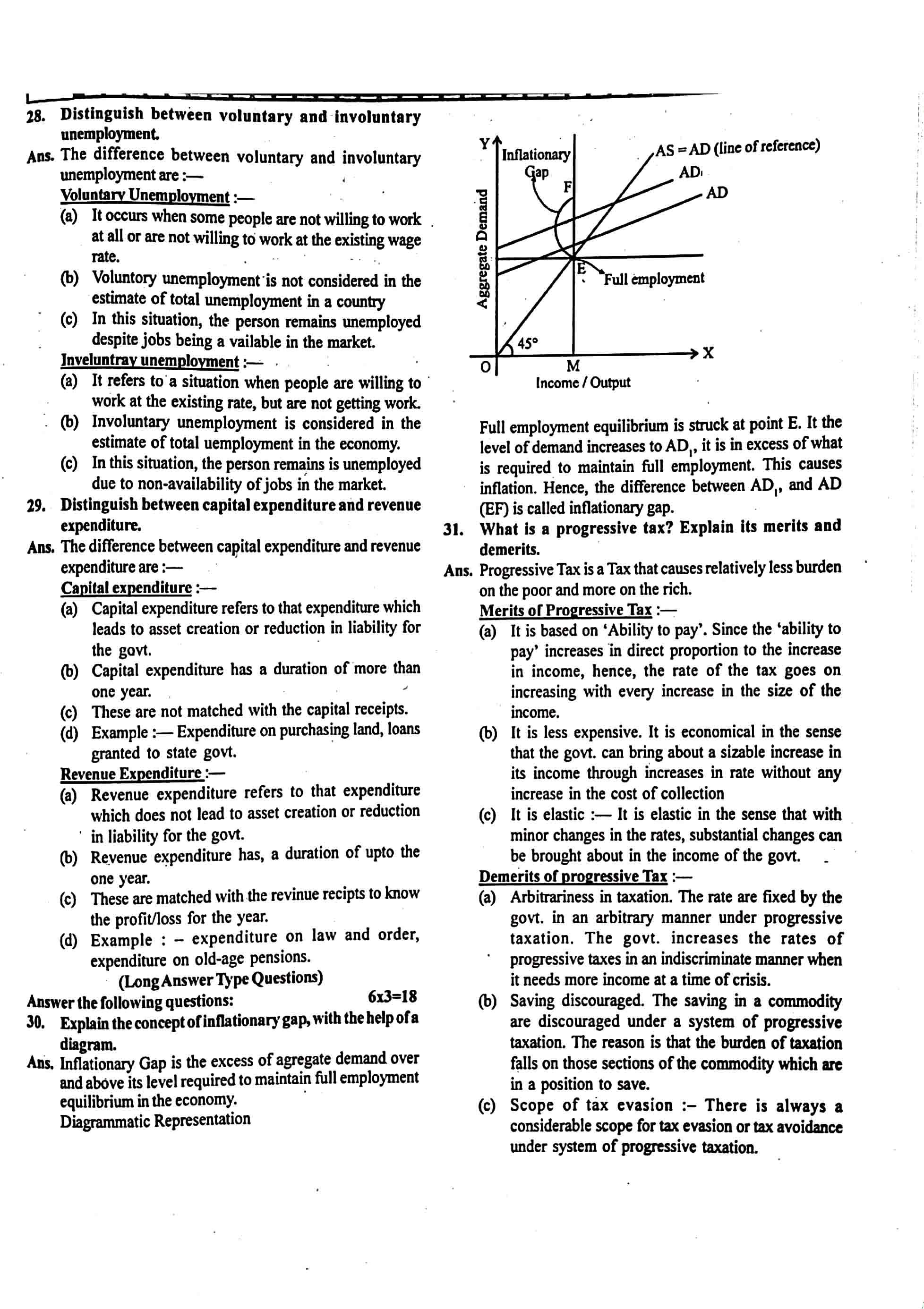 JAC Class 12 economics 2019 Question Paper 05