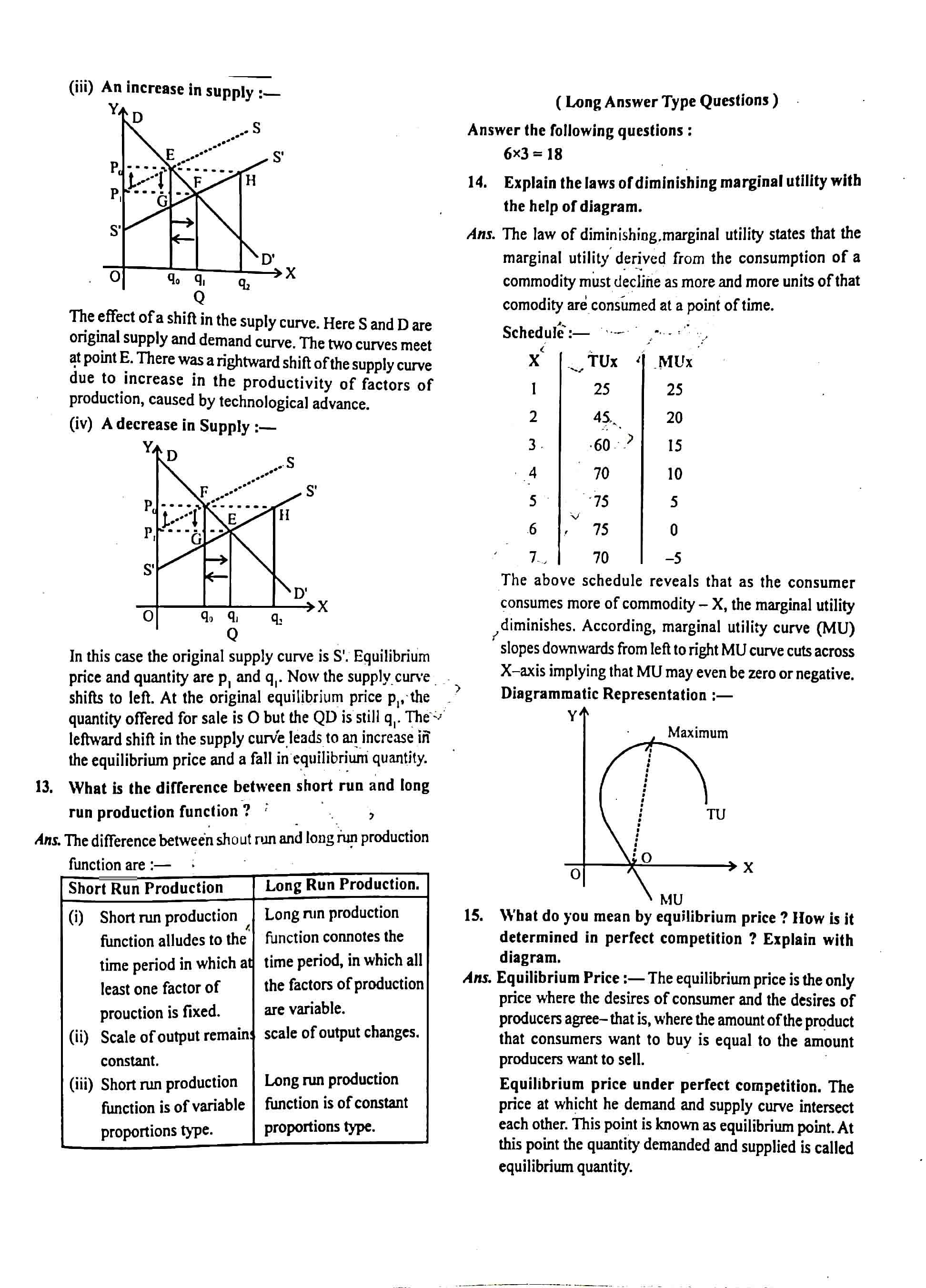JAC Class 12 economics 2020 Question Paper 03