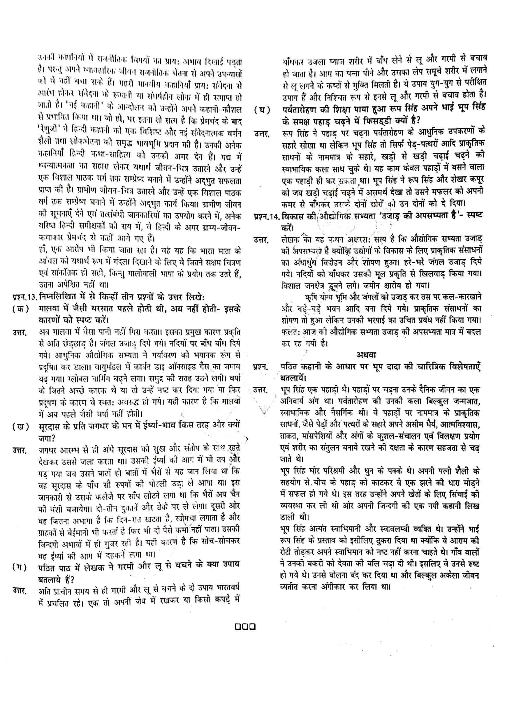 JAC Class 12 hindi 2017 Question Paper 06
