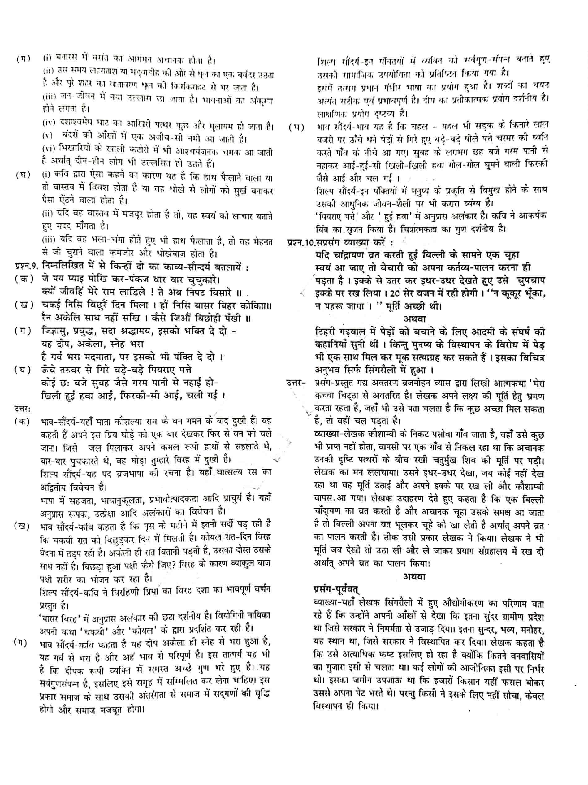 JAC Class 12 hindi 2018 Question Paper 04