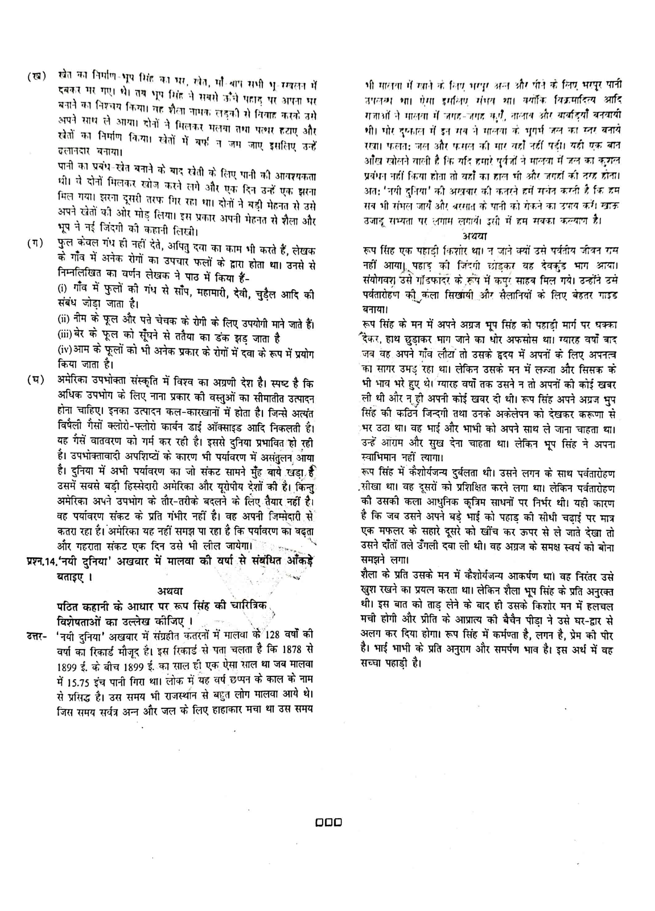 JAC Class 12 hindi 2018 Question Paper 06