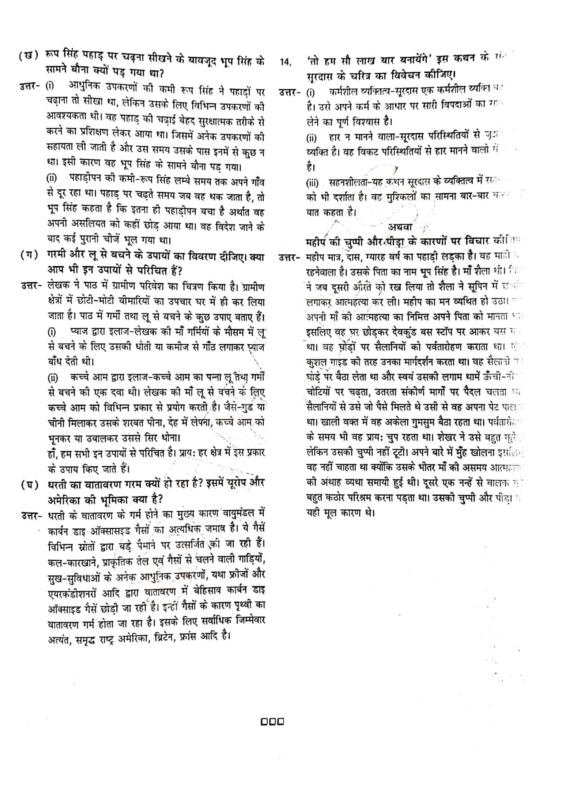 JAC Class 12 hindi 2020 Question Paper 05