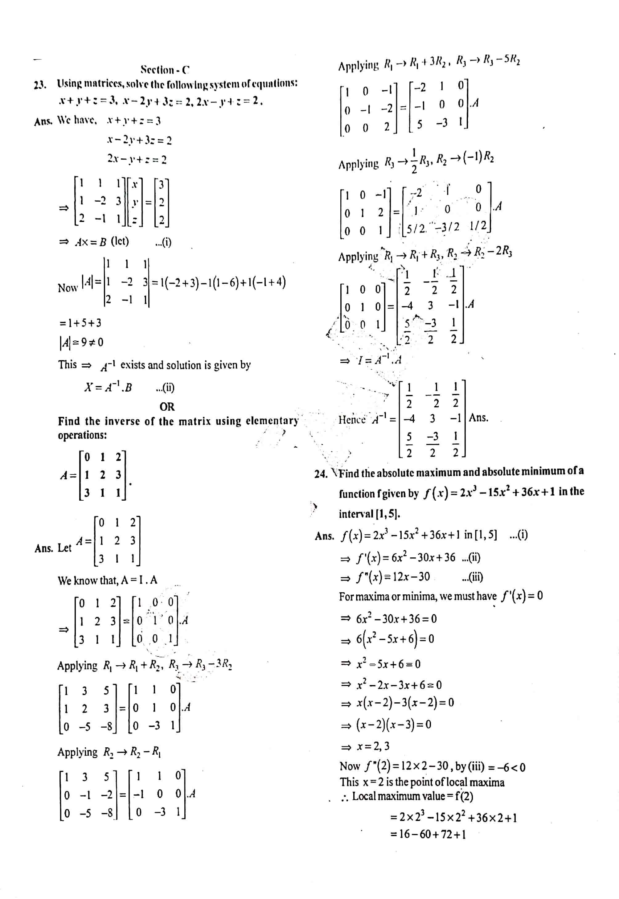 JAC Class 12 math 2019 Question Paper 09
