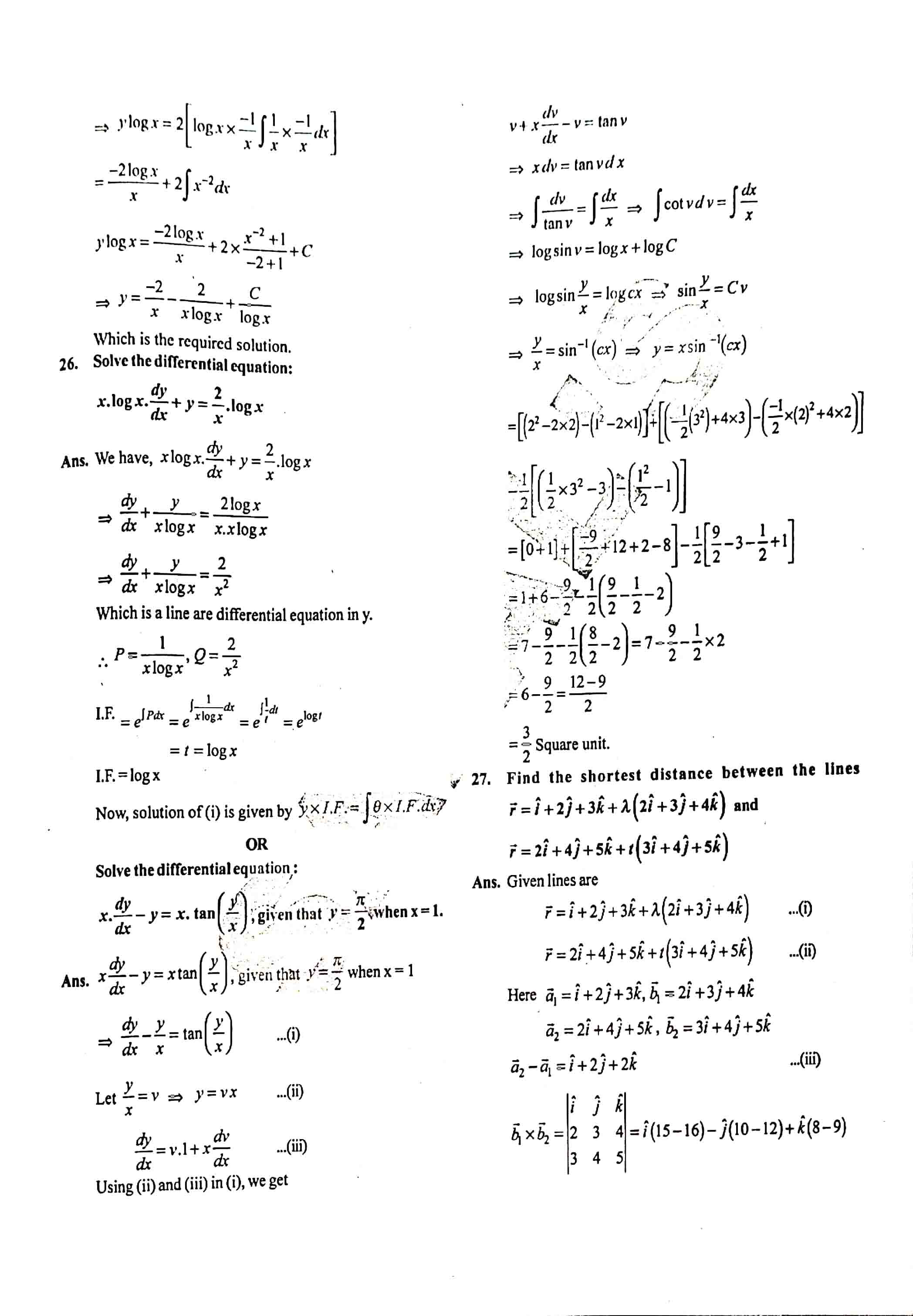 JAC Class 12 math 2019 Question Paper 11
