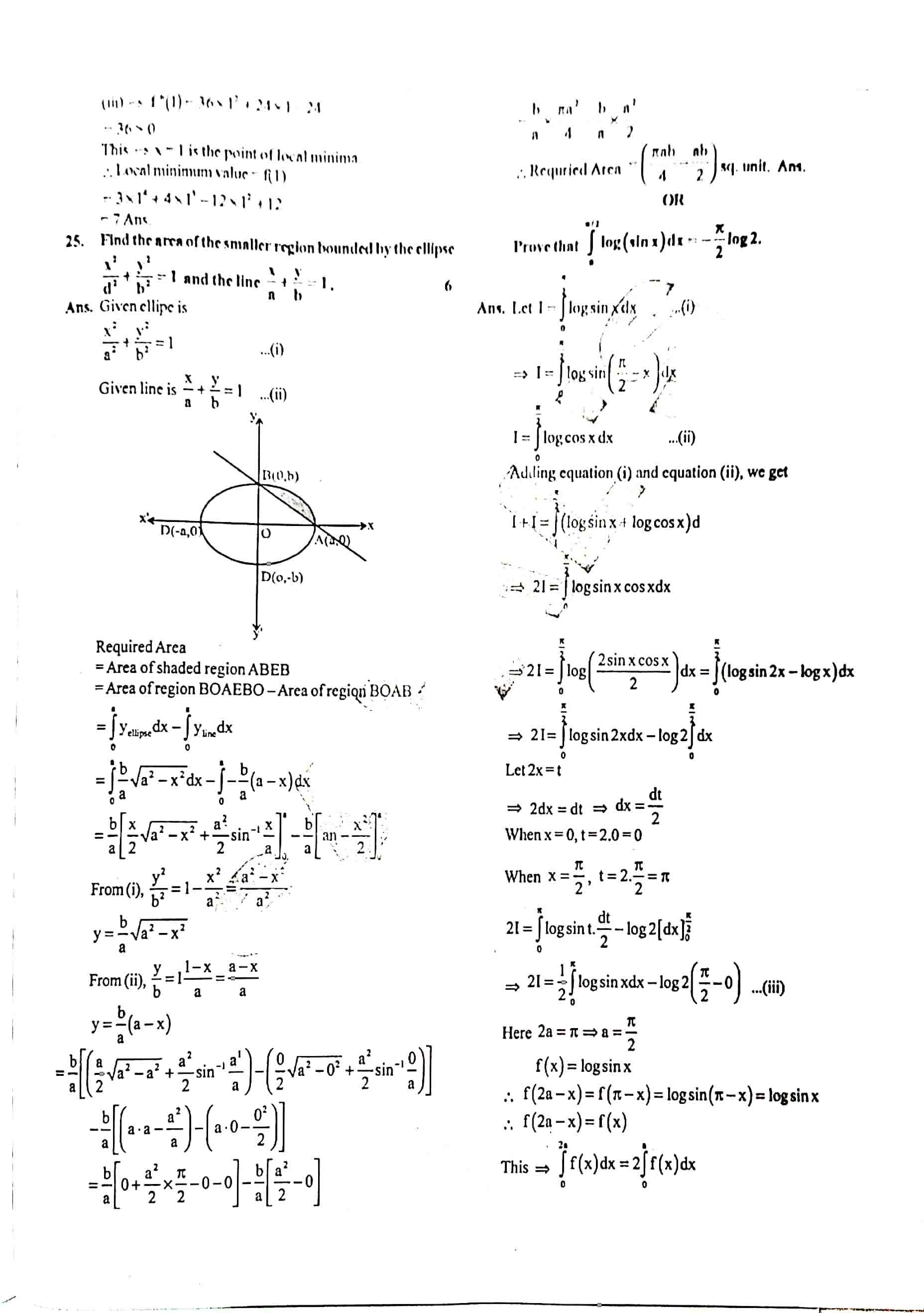 JAC Class 12 math 2020 Question Paper 09
