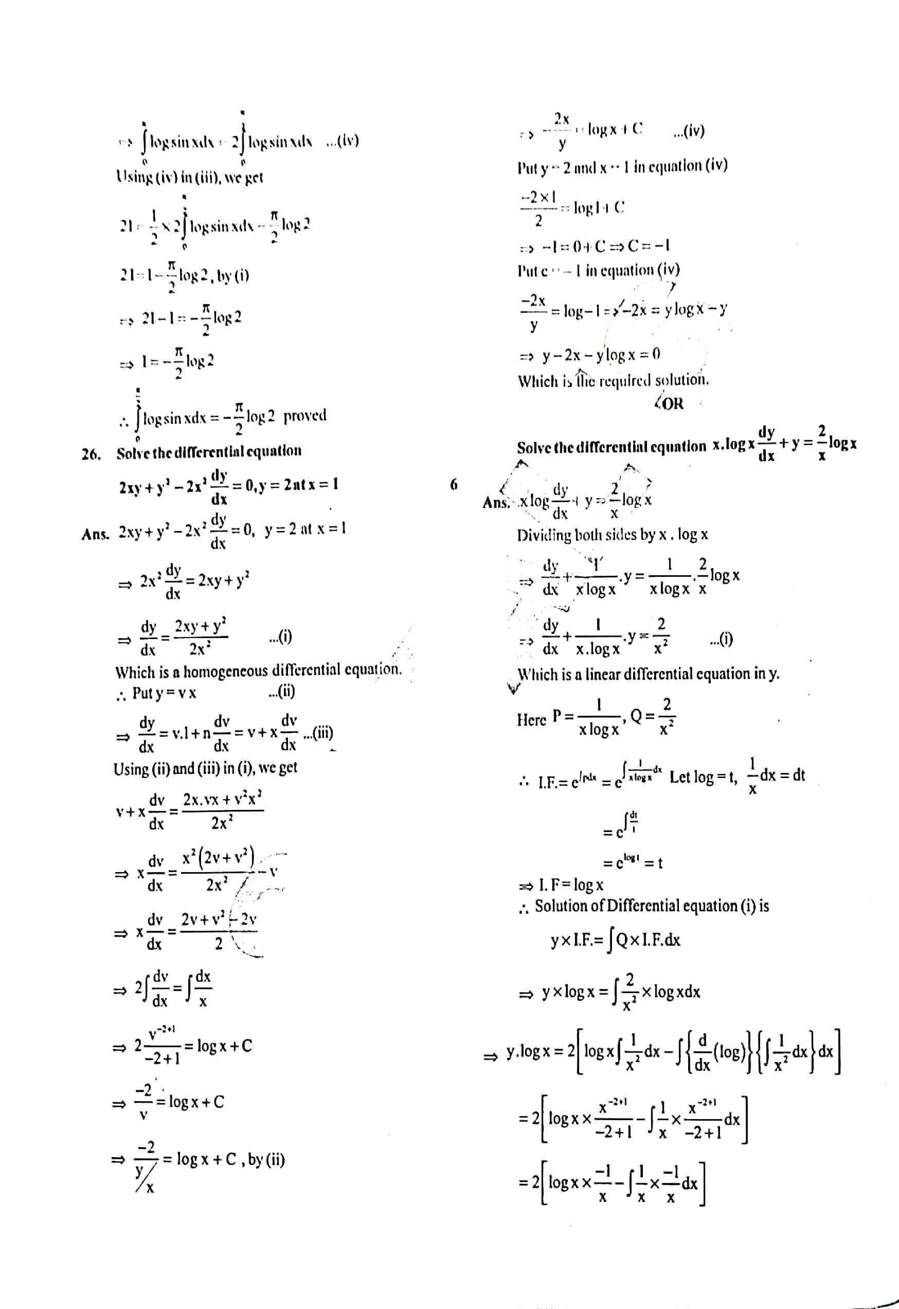 JAC Class 12 math 2020 Question Paper 10