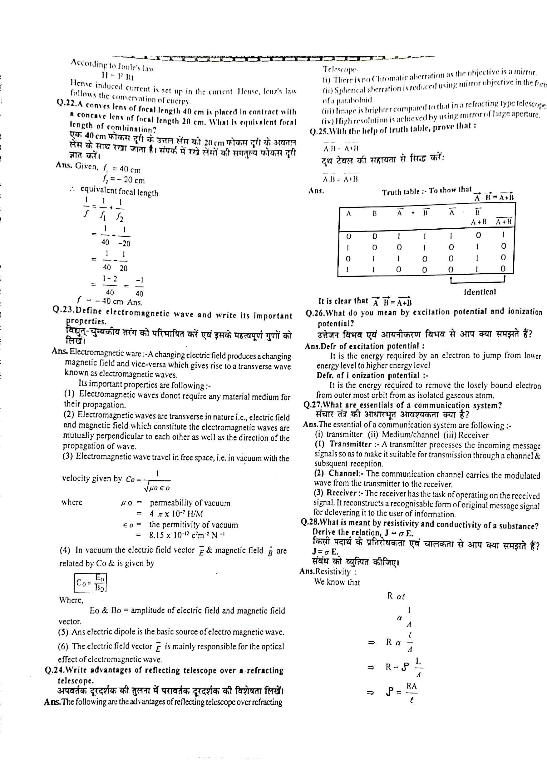 JAC Class 12 Physics 2012 Question Paper 03