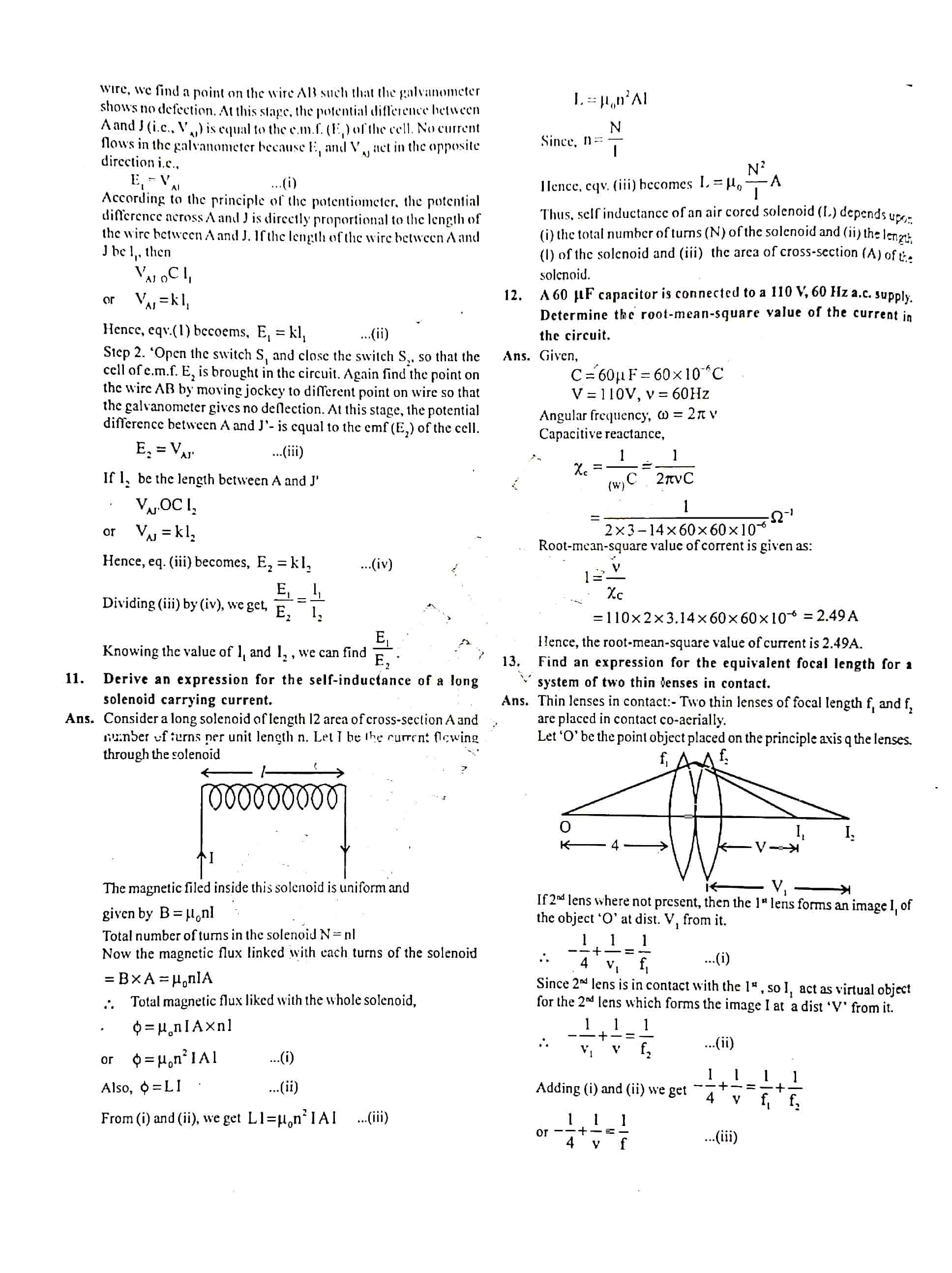JAC Class 12 Physics 2018 Question Paper 03