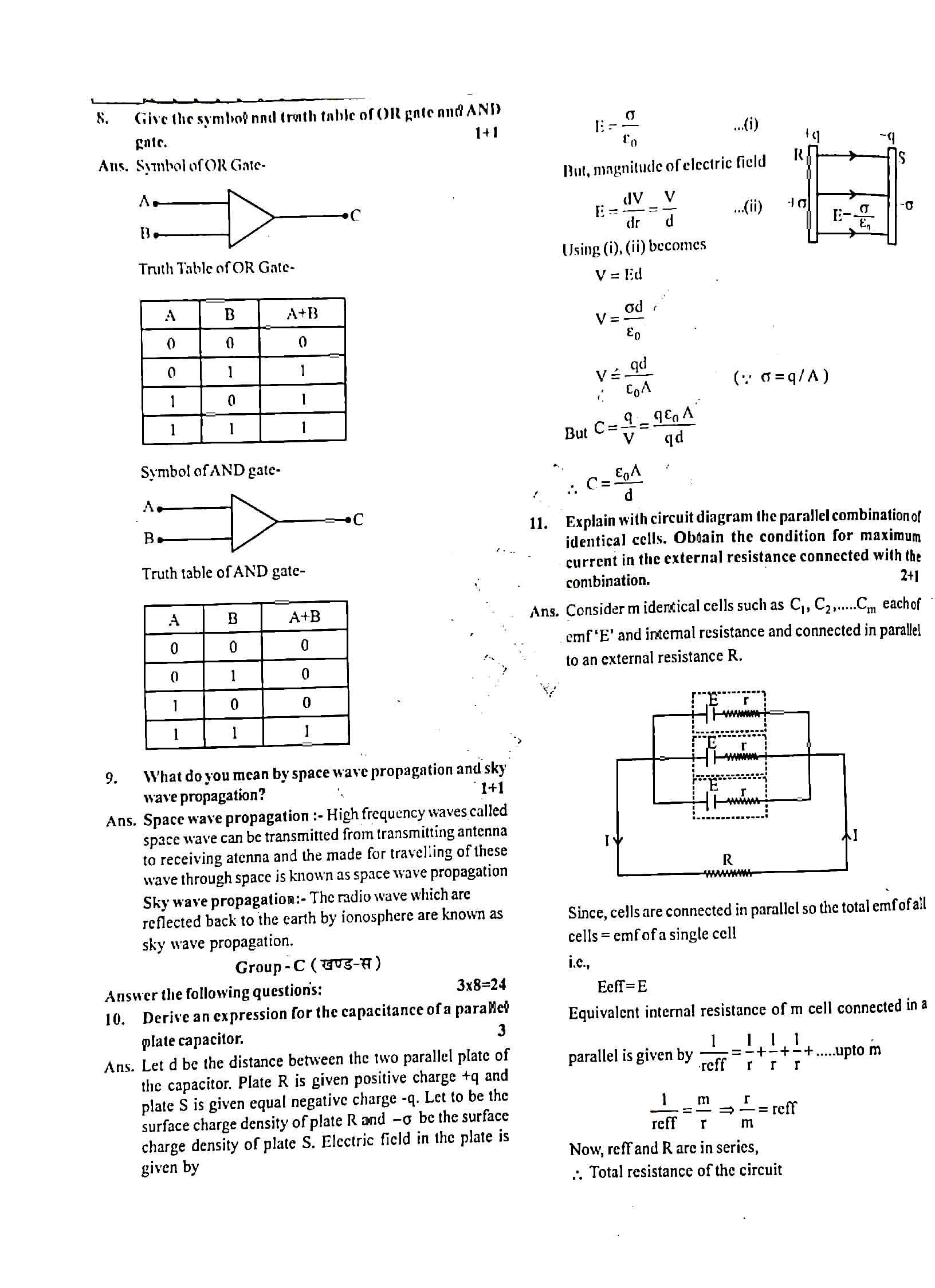 JAC Class 12 Physics 2019 Question Paper 03